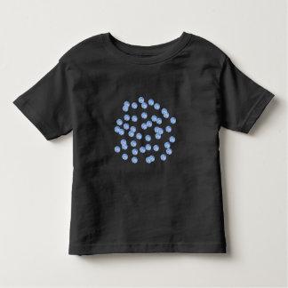 Blauer Polka-Punkt-Kleinkind-T - Shirt