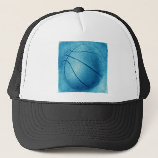 Blauer Pop-Kunst-Basketball Truckerkappe