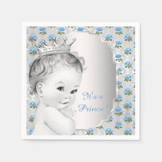 Blauer Prinz Babyparty Servietten