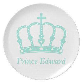 Blauer Prinz Crown mit Juwelen Teller