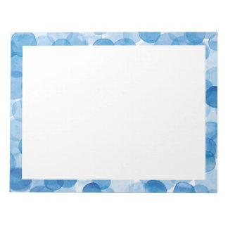 blauer Punkt 8,5 x des Aquarells Notizblock 11