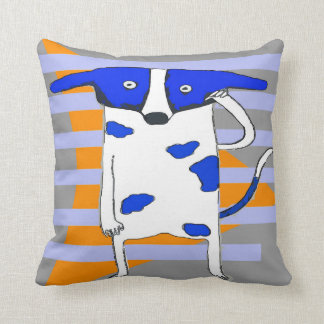 Blauer Punkt-Hund Kissen