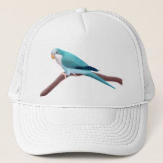 Blauer Quäker-Papageien-Hut Truckerkappe