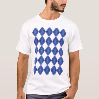 Blauer Quarz-Muster-T - Shirt