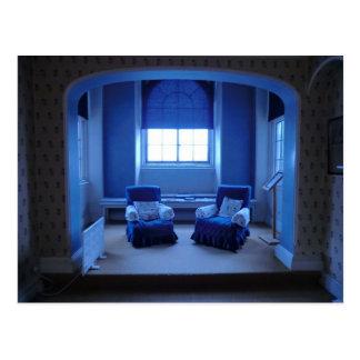 Blauer Raum der Königin-Adelaides bei Sudbury Hall Postkarte