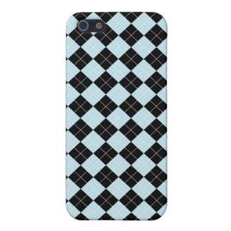 Blauer Rauten-Speck-Kasten iPhone 5 Schutzhülle