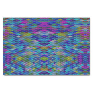 Blauer Regenbogen-magisches Seidenpapier
