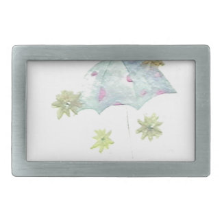 Blauer Regenschirm Rechteckige Gürtelschnallen
