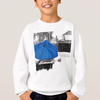 Blauer Regenschirm Sweatshirt