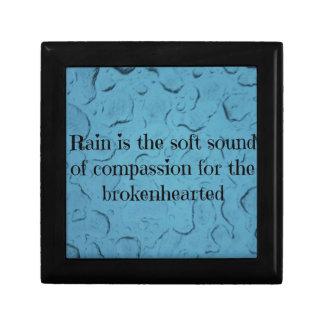 Blauer Regentropfen-untröstliches Mitleid-Zitat Geschenkbox