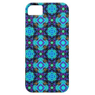 blauer Retro flippiger i-Telefonkasten iPhone 5 Cover