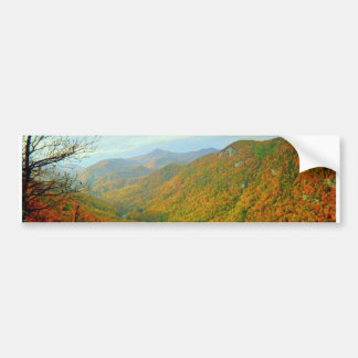 Blauer Ridge-Gebirgszug des North Carolina Autoaufkleber