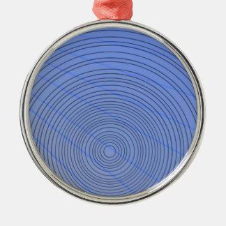 Blauer Ring Silbernes Ornament