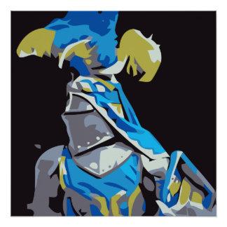 Blauer Ritter Poster