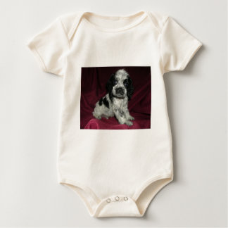 Blauer Roan Amerikaner-Cocker spaniel-Welpe Baby Strampler