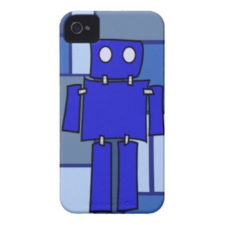 Blauer Roboter Case-Mate iPhone 4 Hüllen