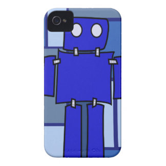 Blauer Roboter iPhone 4 Cover