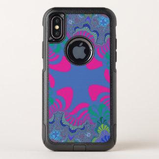 Blauer rosa QueriPhone X Neonkasten OtterBox Commuter iPhone X Hülle