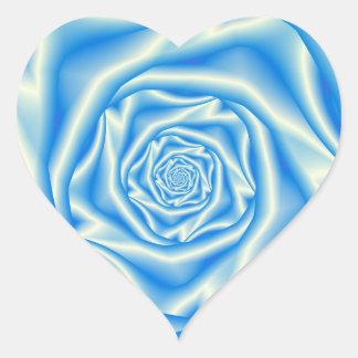 Blauer Rosen-Spirale-Aufkleber Herz-Aufkleber