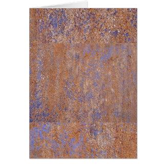 Blauer Rost Grußkarte