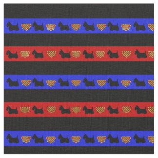 Blauer, roter, schwarzer Streifen, Stoff