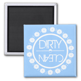 Blauer sauberer schmutziger Spülmaschinen-Magnet Kühlschrankmagnet