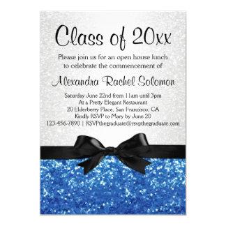 Blauer Schein-Blick Bogen-Abschluss/Party 12,7 X 17,8 Cm Einladungskarte