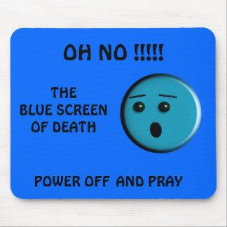 Blauer Schirm des Todes - - besonders angefertigt Mauspad