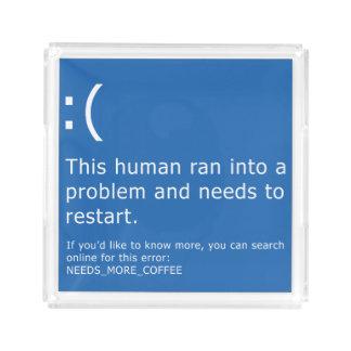 Blauer Schirm des Todes - Kaffee-Fehler Acryl Tablett