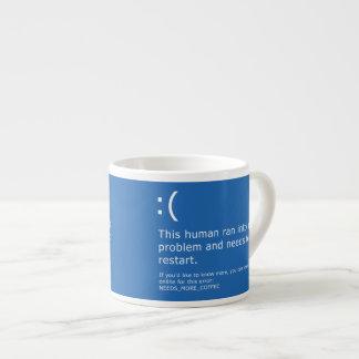 Blauer Schirm des Todes - Kaffee-Fehler Espressotasse