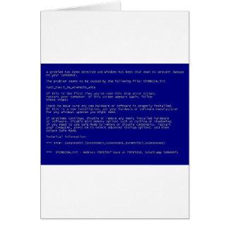 Blauer Schirm des Todes Karte