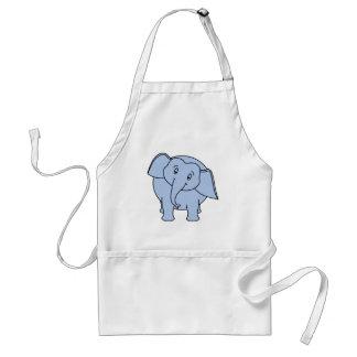 Blauer schläfriger Elefant Karikatur Schürze