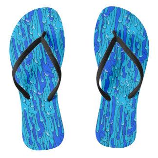 Blauer Schlamm Flip Flops