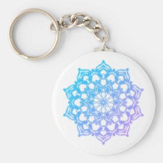 Blauer Schlüsselbund Mandala Fleur Schlüsselanhänger
