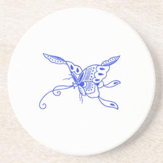 Blauer Schmetterling Getränkeuntersetzer