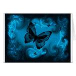 Blauer Schmetterling Grußkarte