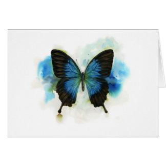 Blauer Schmetterling irgendein Grußkarte