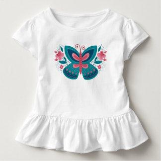Blauer Schmetterling Kleinkind T-shirt