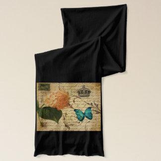 blauer Schmetterling Paris scripts französisches Schal