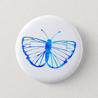 Blauer Schmetterling Runder Button 5,1 Cm