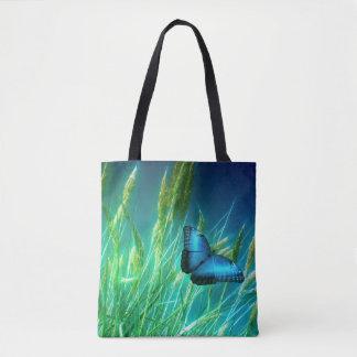 Blauer Schmetterling Tasche