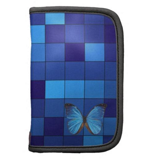 Blauer Schmetterlings-Folio-Planer