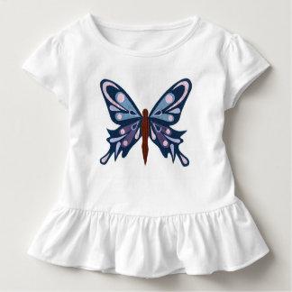 """""""Blauer Schmetterlings-"""" Rüsche-T - Shirt"""