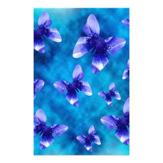 Blauer Schmetterlings-Sommer Briefpapier