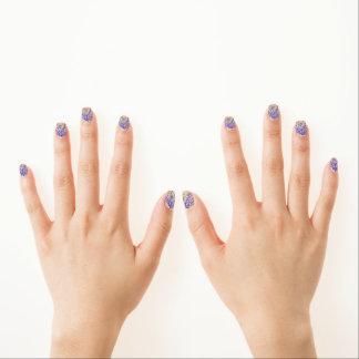 Blauer Schmetterlings-Strudel Minx Nagelkunst