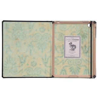 Blauer Schmutz-dekorativer Musterhintergrund iPad Hüllen