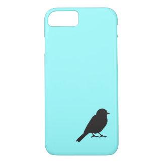 Blauer Schwalbenvogel Spatzen-Silhouette Chic iPhone 8/7 Hülle