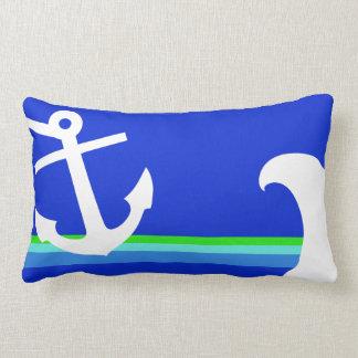 Blauer Seeanker-Streifen Lendenkissen