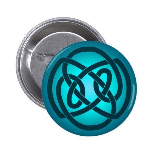 Blauer Single-Schleifen-Knoten-Knopf Anstecknadelbutton