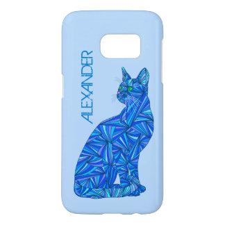 Blauer sitzender Katzen-katzenartiger